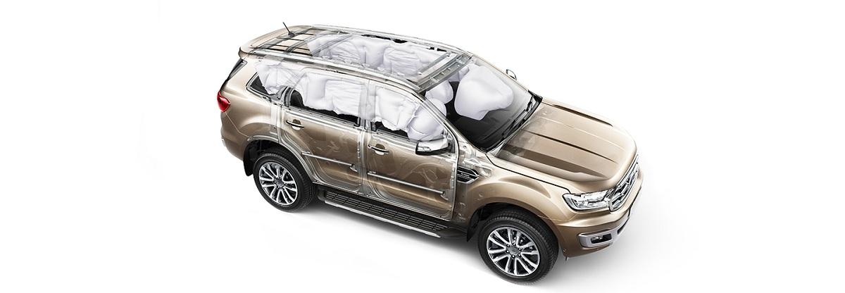 Hệ thống an toàn túi khí của Ford Everest